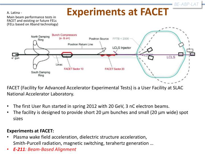 Experiments at FACET