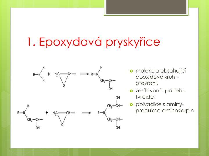 1. Epoxydová pryskyřice