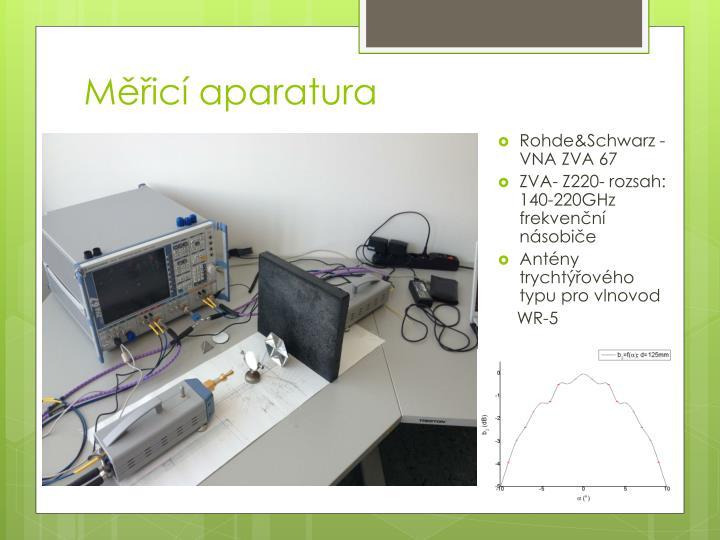 Měřicí aparatura