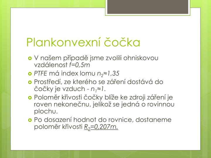 Plankonvexní čočka