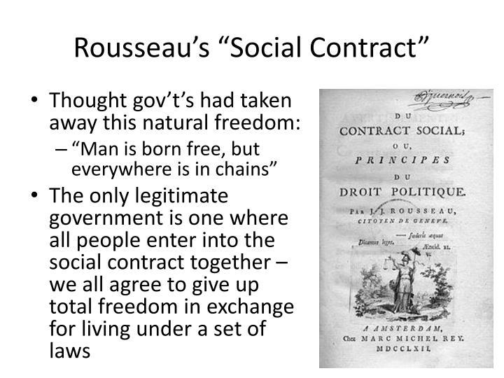 """Rousseau's """"Social Contract"""""""