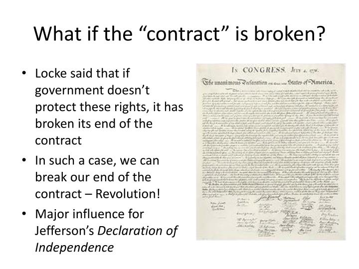 "What if the ""contract"" is broken?"