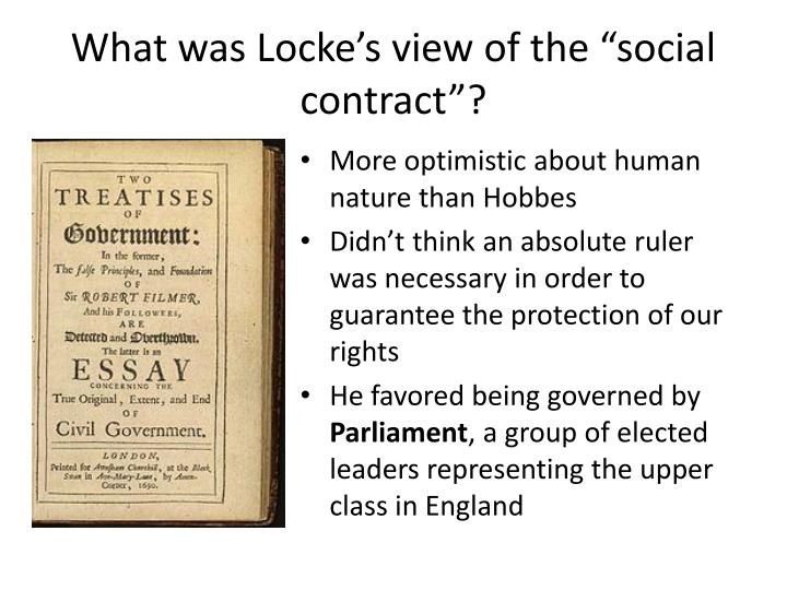 "What was Locke's view of the ""social contract""?"