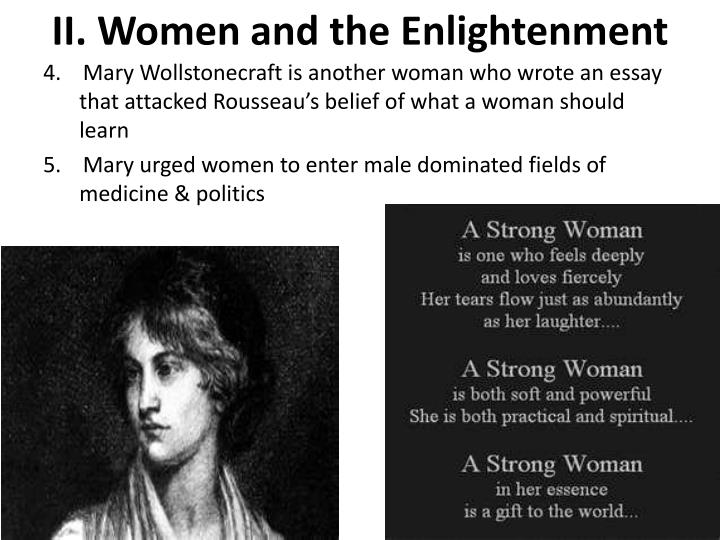 II. Women and the Enlightenment