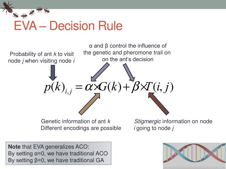 EVA – Decision Rule