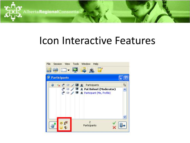 Icon Interactive Features