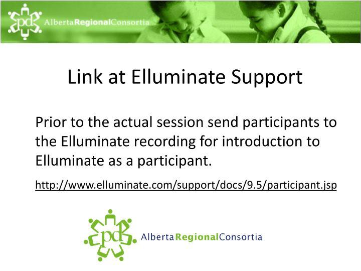 Link at Elluminate Support