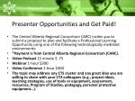 presenter opportunities and get paid