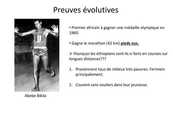 Preuves évolutives