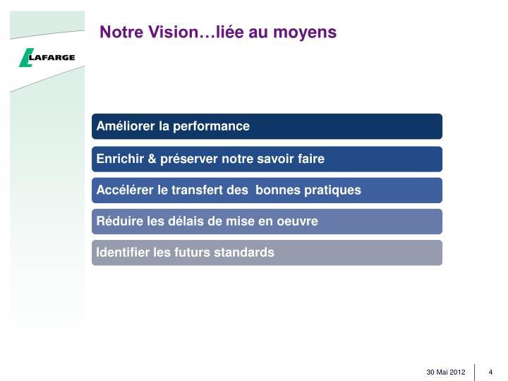 Notre Vision…