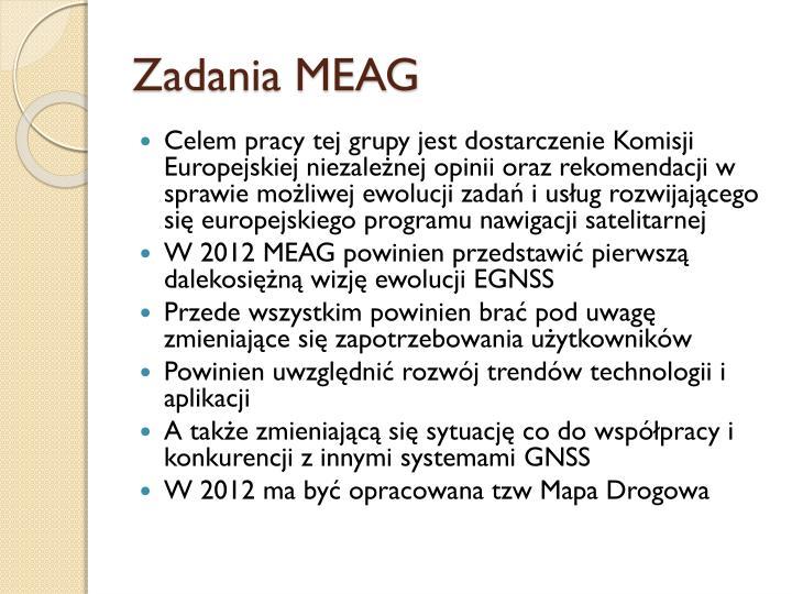 Zadania MEAG