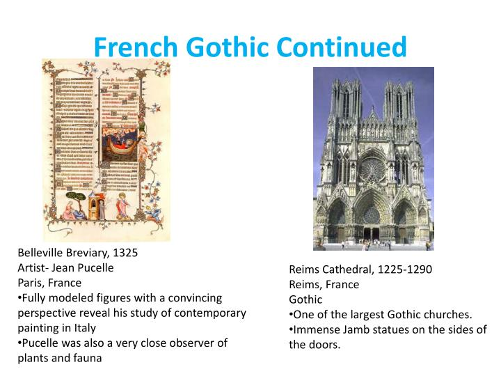 French Gothic Continued