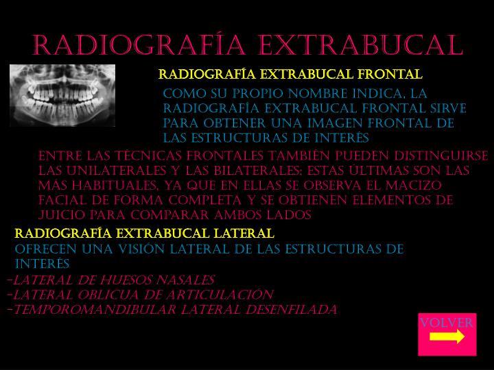 Radiografía extrabucal