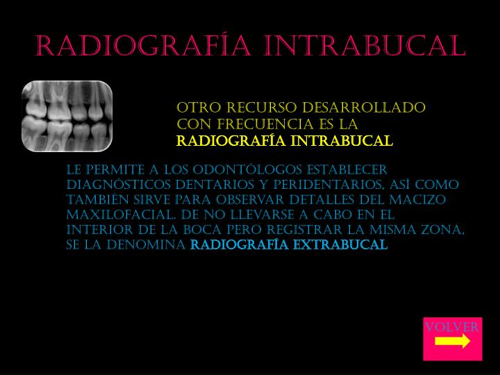 Radiografía intrabucal
