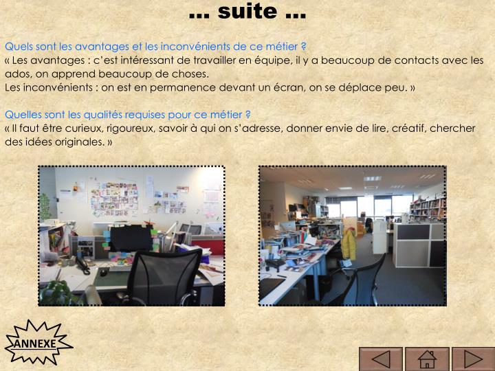 … suite …