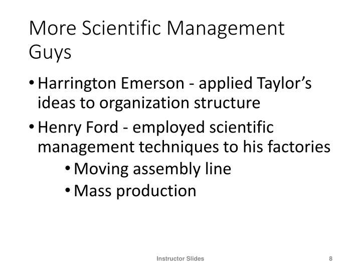More Scientific Management Guys