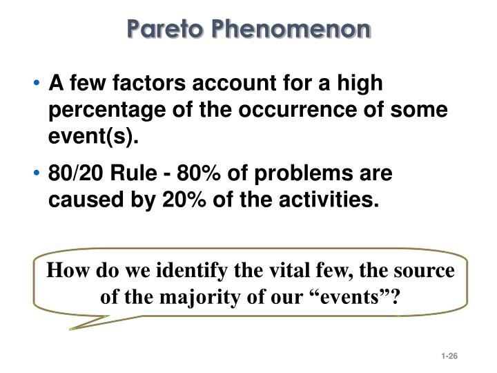 Pareto Phenomenon