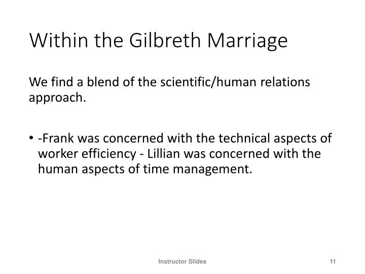 Within the Gilbreth Marriage