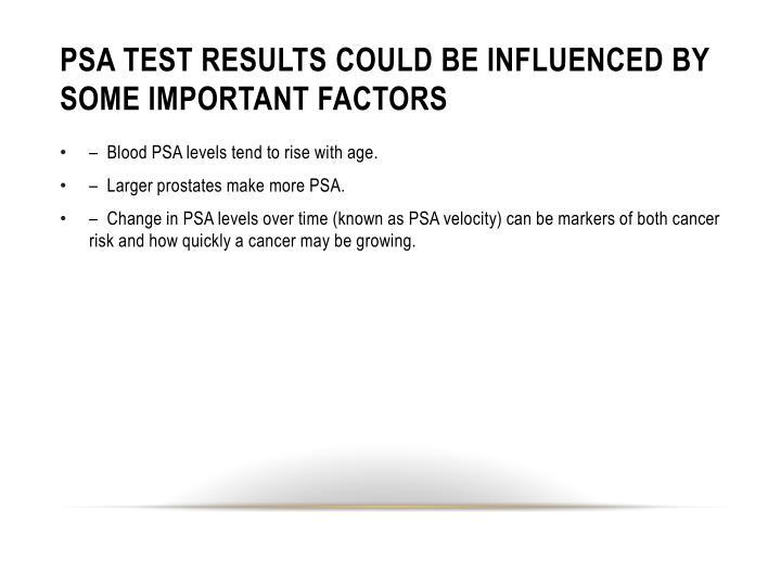 PSA TEST results