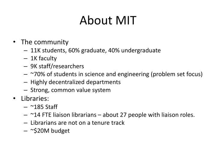 About MIT