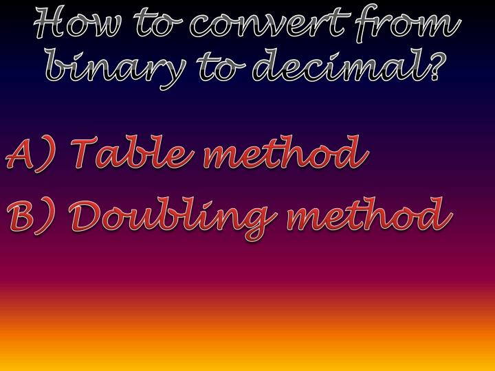 How to convert from binary to decimal?