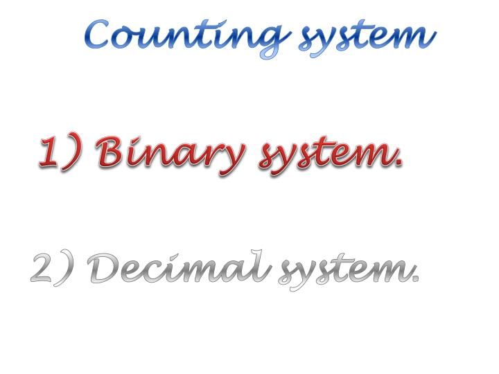 Counting system