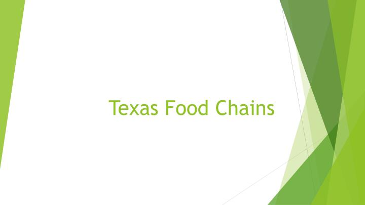 Texas food chains