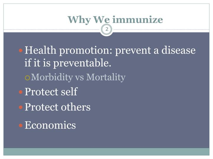 Why we immunize