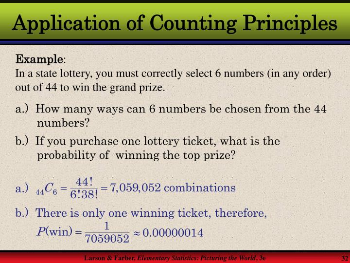 Application of Counting Principles