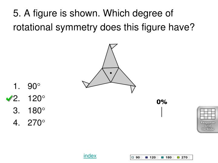 5. A figure is shown. Which degree of rotational symmetry does this figure have?