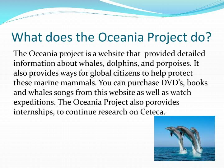 What does the oceania project do