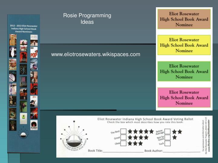 Rosie Programming Ideas