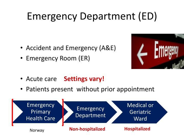 Emergency Department (ED)