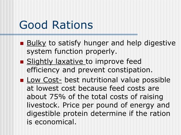 Good Rations