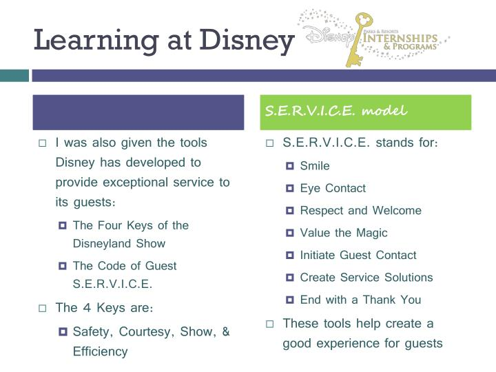 Learning at Disney
