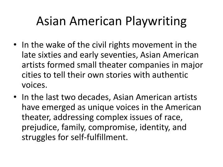 Asian American Playwriting