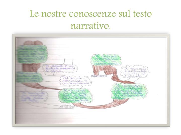 Le nostre conoscenze sul testo narrativo.