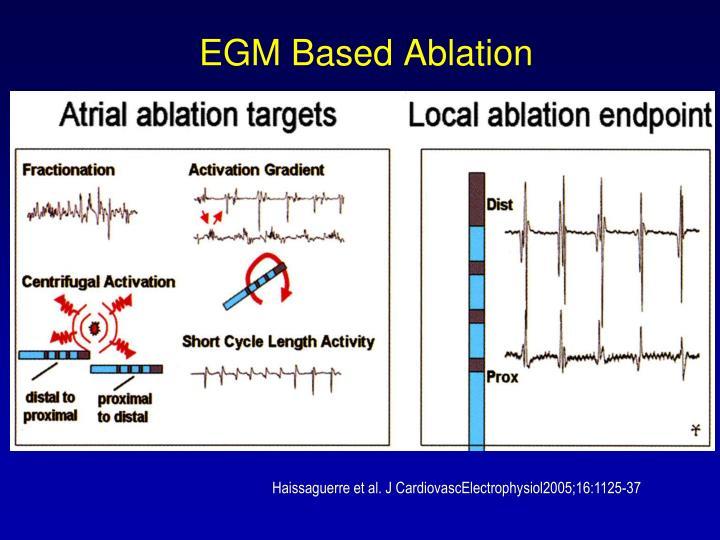 EGM Based Ablation