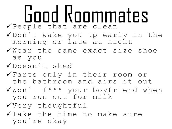 Good Roommates