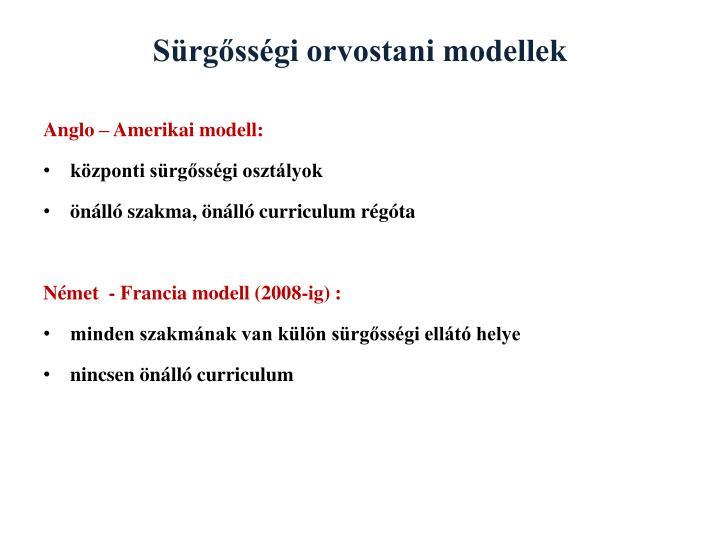Sürgősségi orvostani modellek