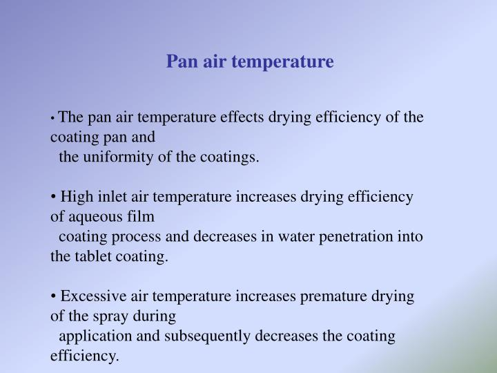 Pan air temperature