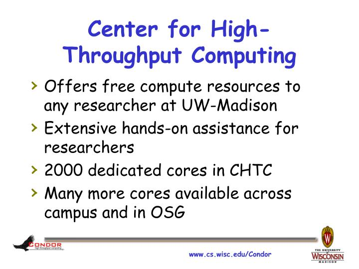 Center for High-Throughput Computing