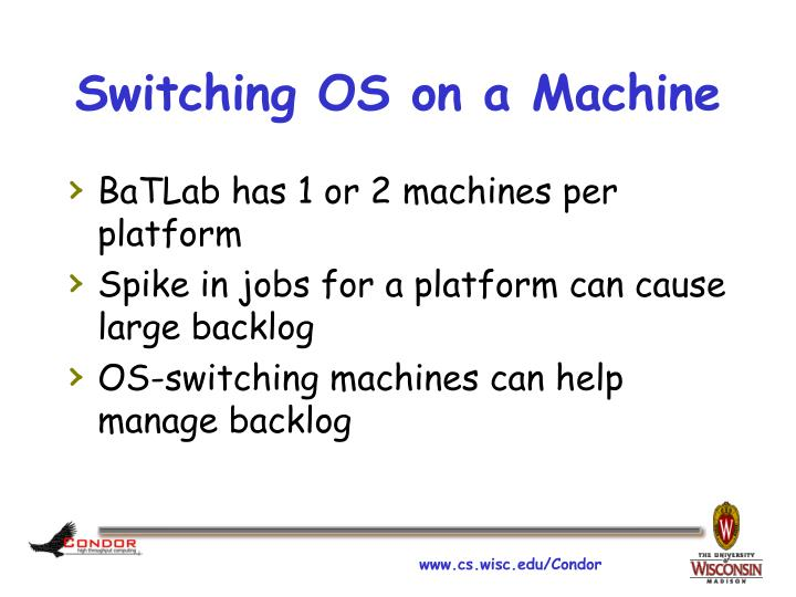 Switching OS on a Machine