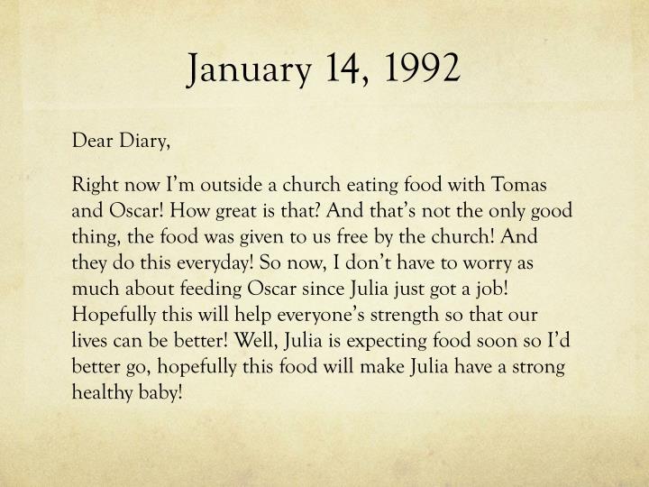 January 14, 1992