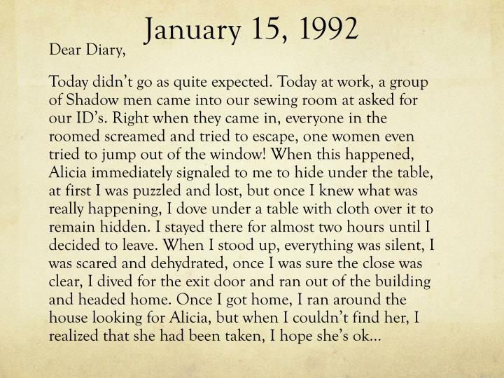 January 15, 1992