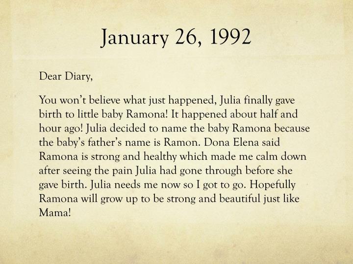 January 26, 1992