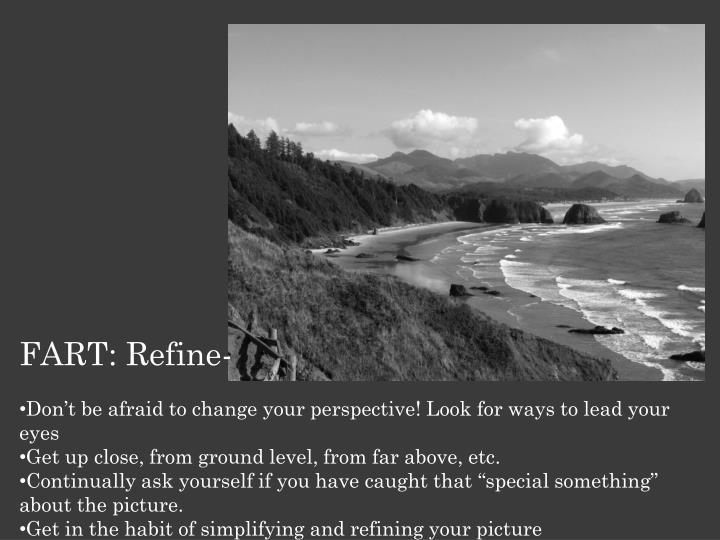 FART: Refine-