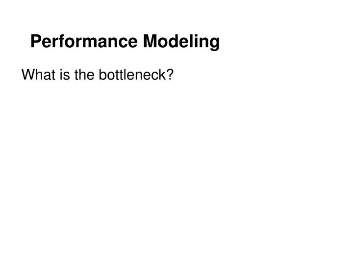 Performance Modeling