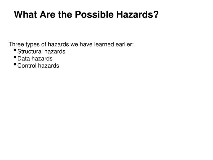 What Are the Possible Hazards?