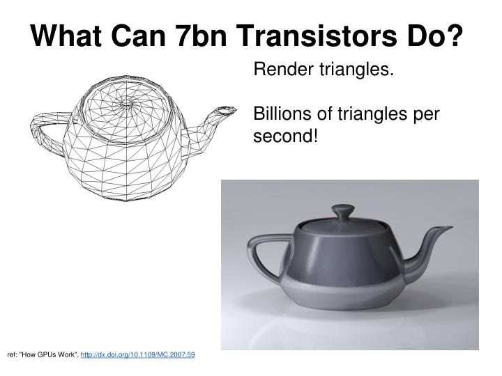 What Can 7bn Transistors Do?